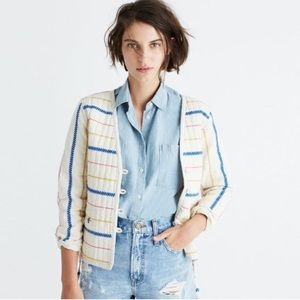 NWT Madewell Quilted Side Tie Embroidered Jacket